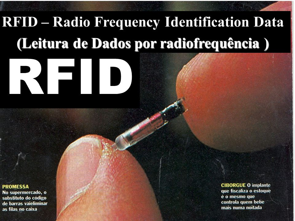 RFID RFID – Radio Frequency Identification Data (Leitura de Dados por radiofrequência ) (Leitura de Dados por radiofrequência )