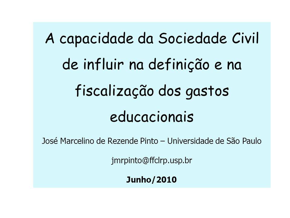 3- Conselhos de Acompanhamento e controle social do Fundeb: Início: Junho/2007.