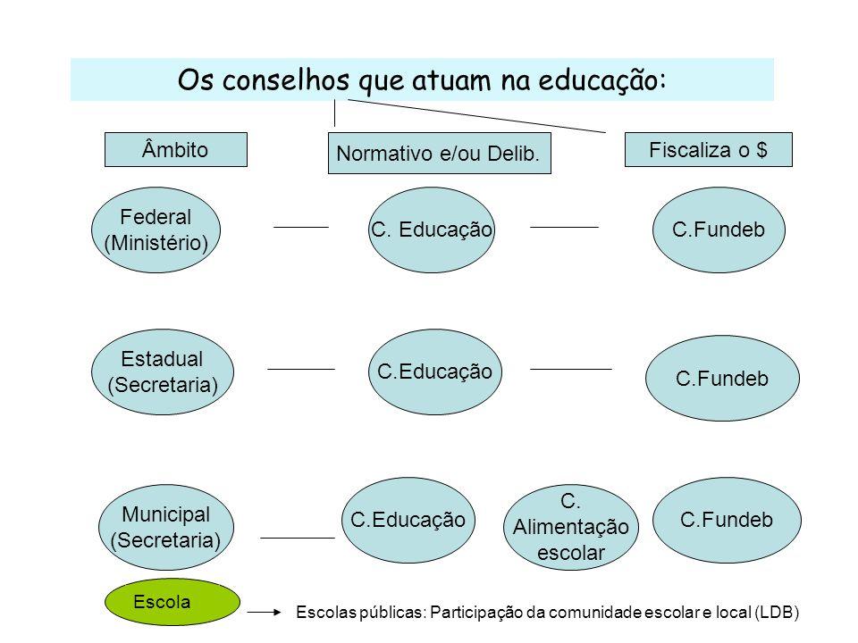 Os recursos para a Educação: Questões: A vinculação (18% União, 25% E e M) como teto; O que são gastos com ensino .