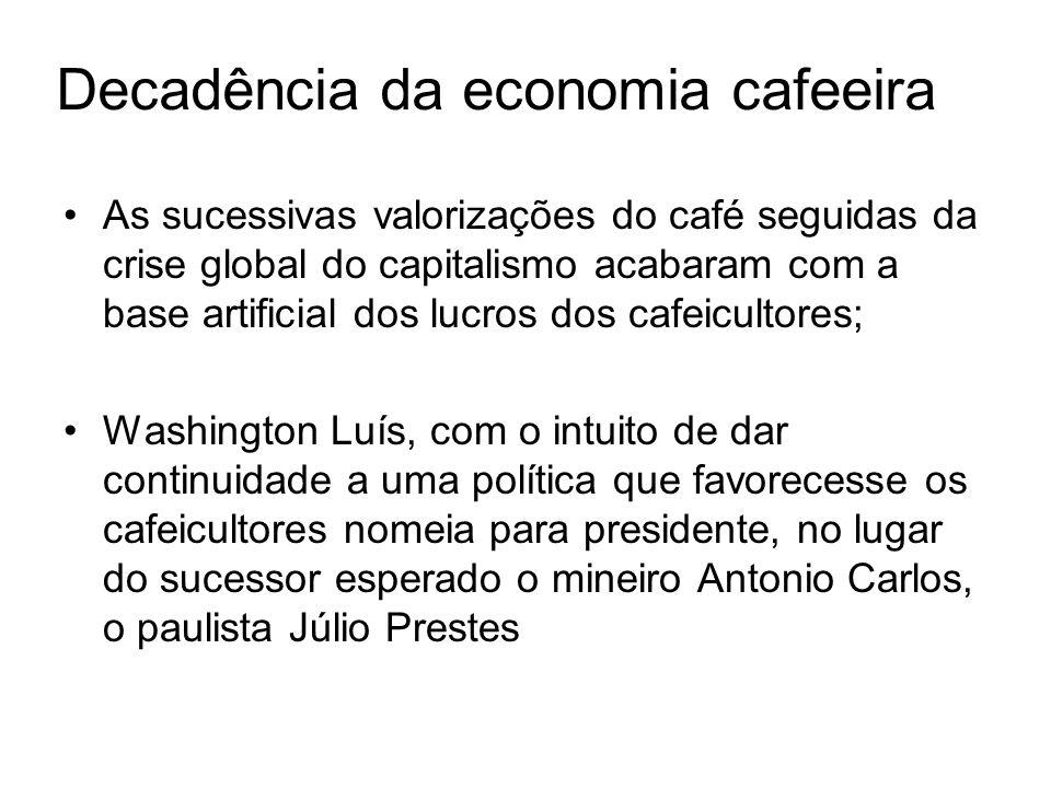 Aliança Liberal Antonio Carlos forma a oposição, Aliança Liberal, com Getúlio Vargas para presidente e importante participação de João Pessoa; Mesmo assim Júlio Prestes vence as eleições de 1930.