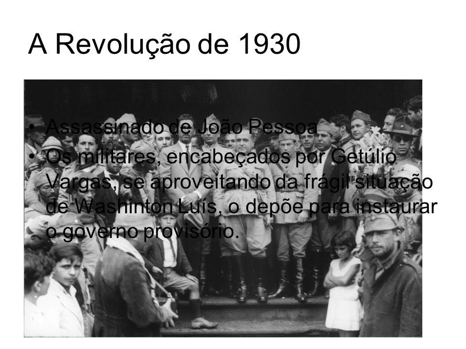 Vargas no poder cede concessões aos grupos políticos atuantes mas não se compromete com nenhum deles; O governo de Getúlio contou com o apoio da Igreja Católica; Há uma centralização do poder, com dissolução do legislativo e nomeação de interventores para os governos estaduais; Criação do Código Eleitoral de 1932.