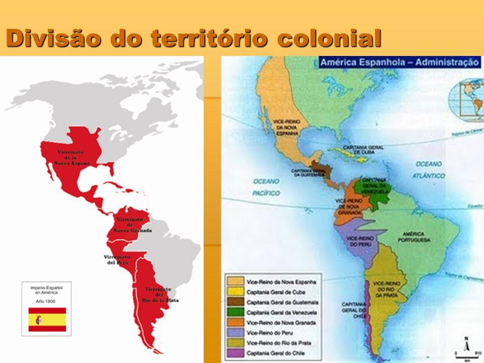 Divisão do território colonial