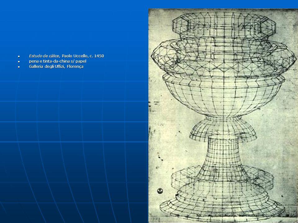 Estudo de cálice, Paolo Uccello, c. 1450 Estudo de cálice, Paolo Uccello, c. 1450 pena e tinta-da-china s/ papel pena e tinta-da-china s/ papel Galler
