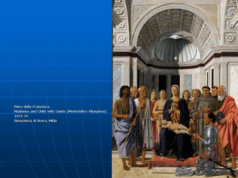 Piero della Francesca Madonna and Child with Saints (Montefeltro Altarpiece) 1472-74 Pinacoteca di Brera, Milão