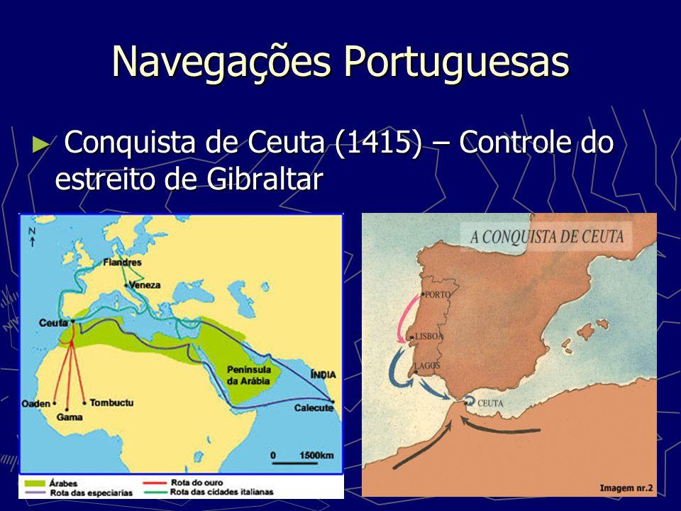 Ilha da Madeira (1418), Açoures (1427) Ilha da Madeira (1418), Açoures (1427) Cabo do Bojador (1434) – fim dos mitos locais Cabo do Bojador (1434) – fim dos mitos locais Mar Português Fernando Pessoa Ó mar salgado, quanto do teu sal São lágrimas de Portugal.