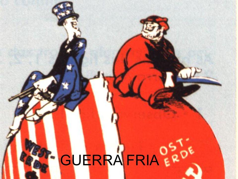BRAÇO DE FERRO USAURSS Doutrina Truman (1947); Plano Marshall (1947); OTAN (1949); Macarthismo; COMECOM ou Plano Molotov; (1949) Pacto de Varsóvia (1955); Komintern.