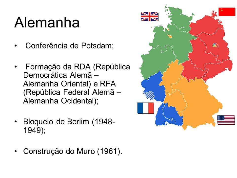 Alemanha Conferência de Potsdam; Formação da RDA (República Democrática Alemã – Alemanha Oriental) e RFA (República Federal Alemã – Alemanha Ocidental
