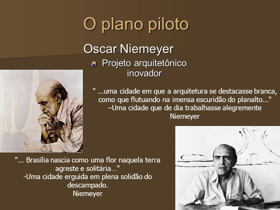 O plano piloto Oscar Niemeyer Projeto arquitetônico inovador