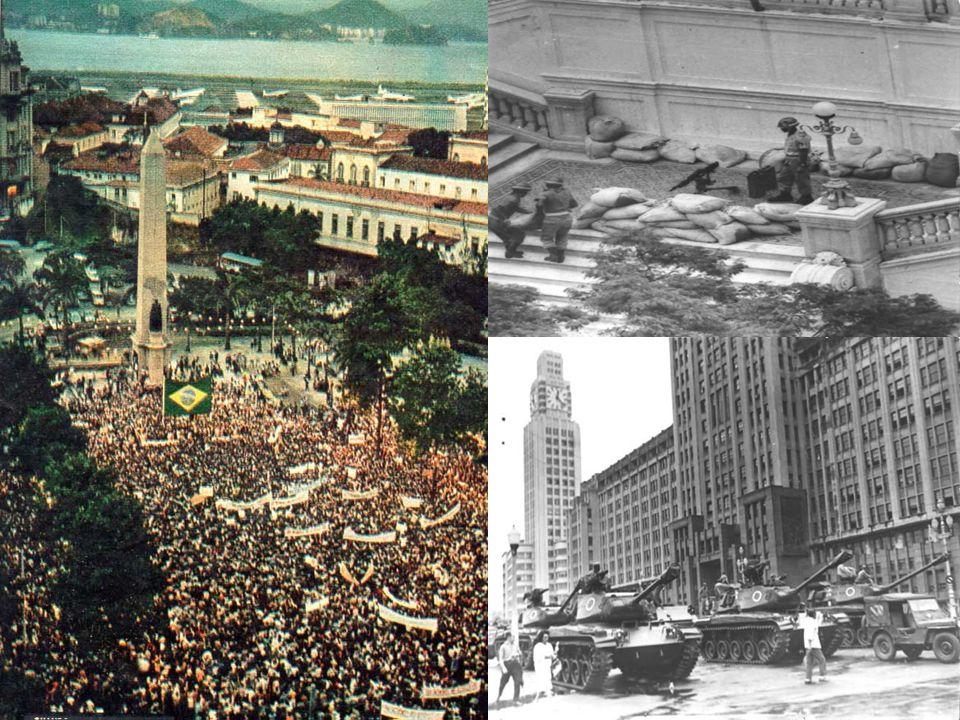 Em 1964 a família tradicional brasileira saiu às ruas contra a ameaça comunista, apoiando uma possível tomada de poder pelos militares. Agora o povo c