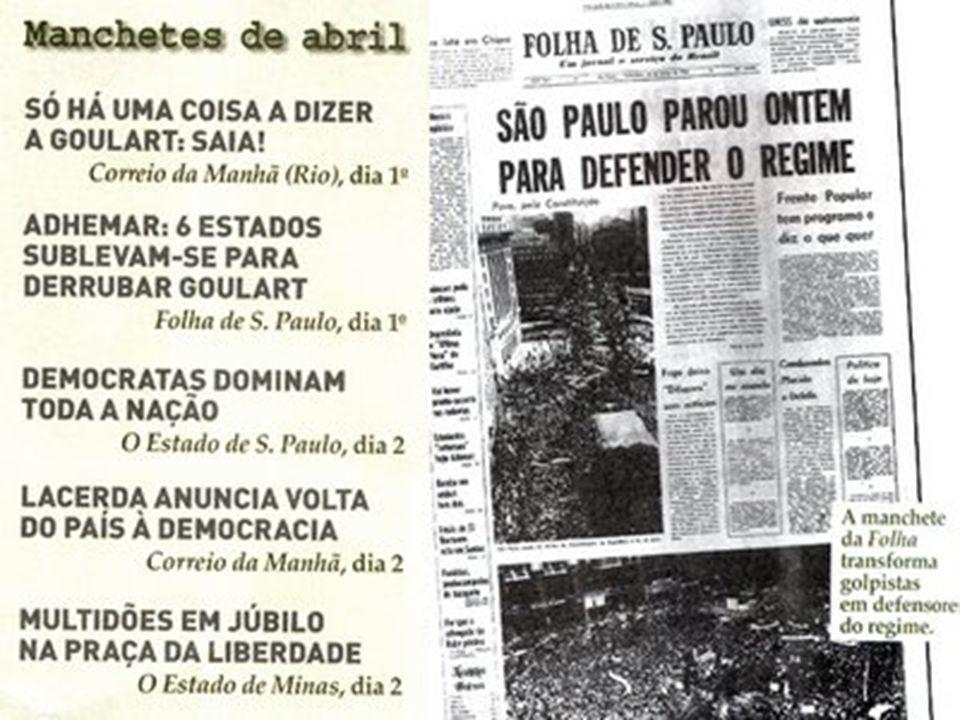 Os presidentes do Período Paschoal Ranieri Mazzilli (1964) Como Presidente da Câmara dos Deputados, assumiu a Presidência da República, por convocação do Congresso Nacional, que anunciou a vacância do cargo, após a vitória do Movimento Revolucionário de 31 de março de 1964.