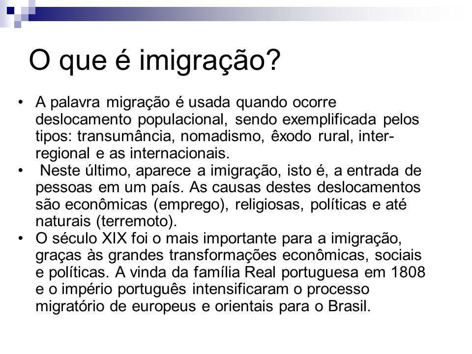 O que é imigração.