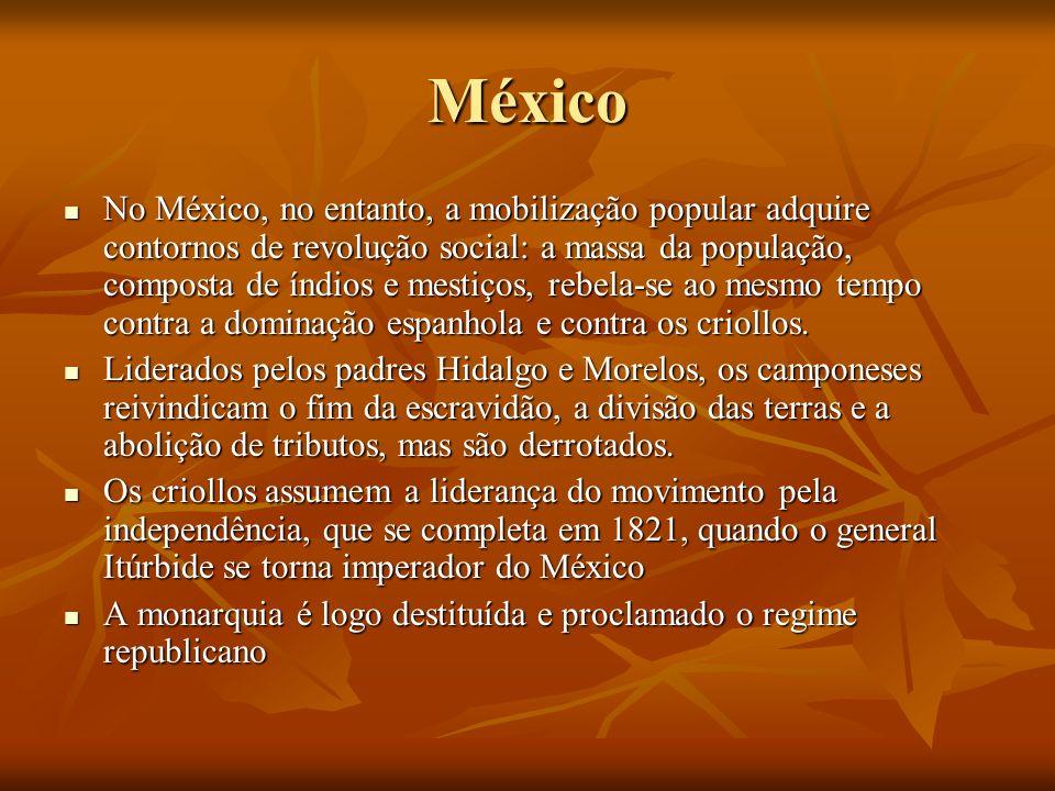 México No México, no entanto, a mobilização popular adquire contornos de revolução social: a massa da população, composta de índios e mestiços, rebela