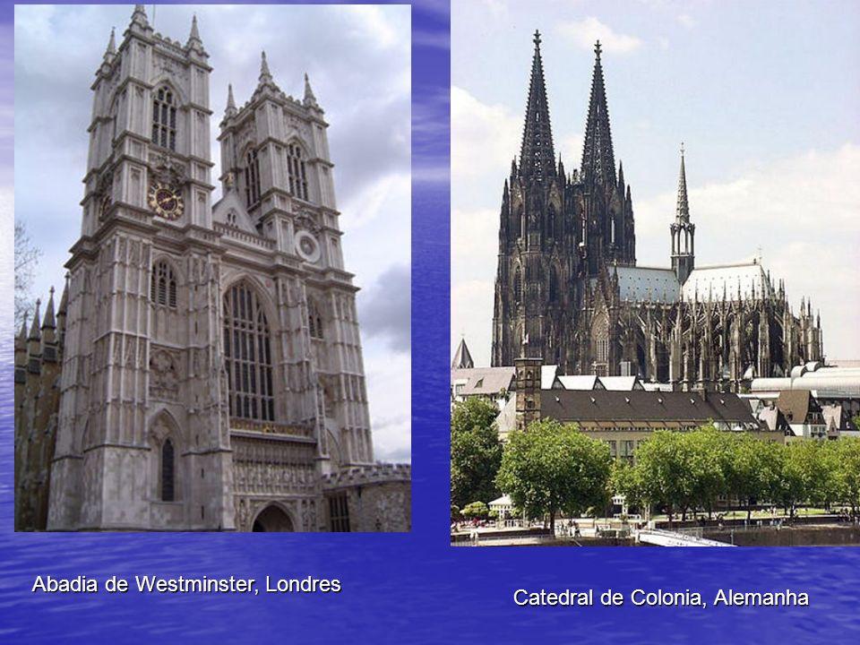 Abadia de Westminster, Londres Catedral de Colonia, Alemanha