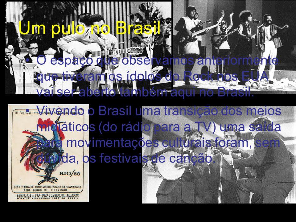 Um pulo no Brasil O espaço que observamos anteriormente que tiveram os ídolos do Rock nos EUA vai ser aberto também aqui no Brasil. Vivendo o Brasil u