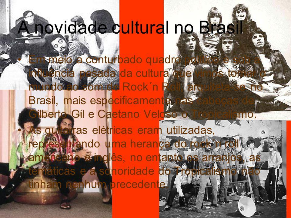 A novidade cultural no Brasil Em meio a conturbado quadro político e sob a influência pesada da cultura que vimos tomar o mundo ao som de Rock´n Roll,