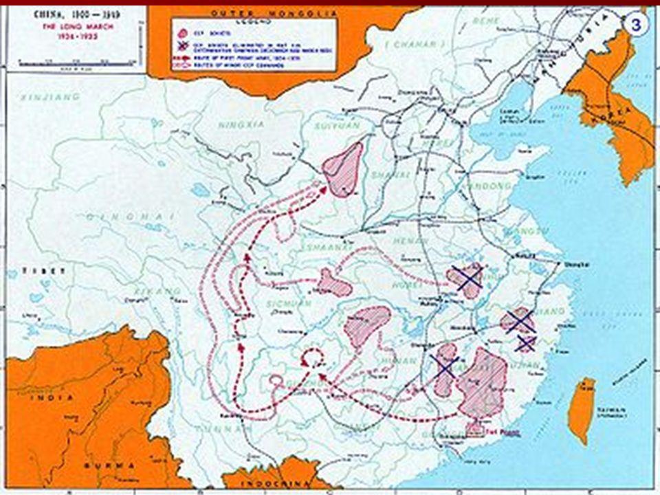 O líder do PCC, Mao Tse Tung, diante das derrotas nas cidades e receosos com as ofensivas da Kuomitang, defendeu o início da Revolução a partir do cam