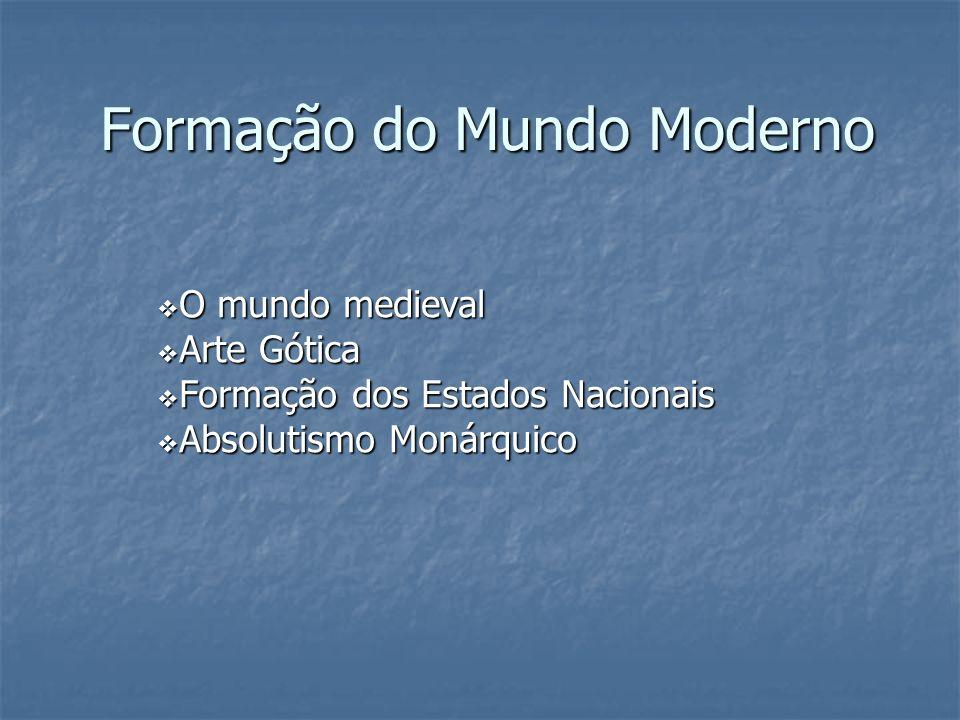 Formação do Mundo Moderno O mundo medieval O mundo medieval Arte Gótica Arte Gótica Formação dos Estados Nacionais Formação dos Estados Nacionais Abso