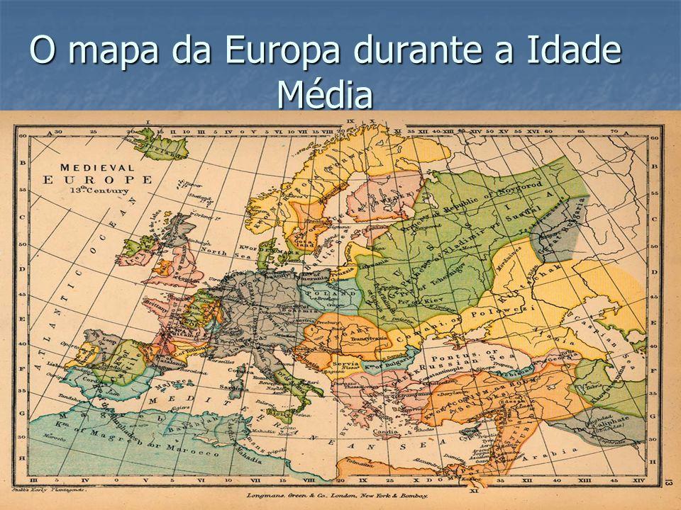 O mapa da Europa durante a Idade Média