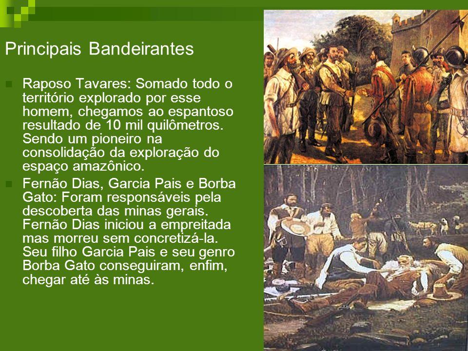 Principais Bandeirantes Raposo Tavares: Somado todo o território explorado por esse homem, chegamos ao espantoso resultado de 10 mil quilômetros. Send