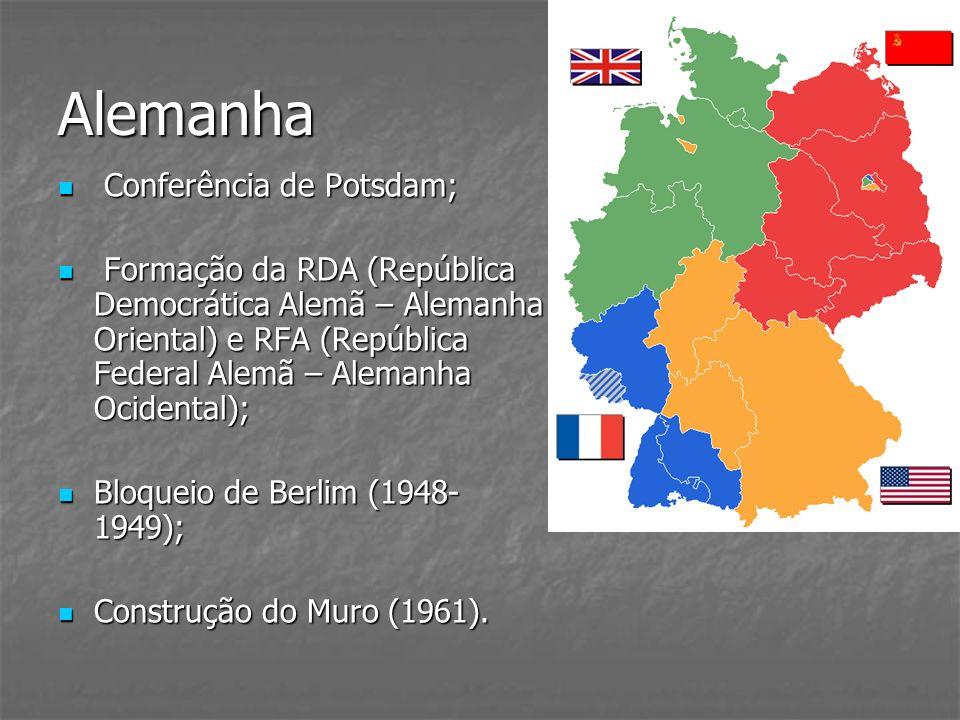 Alemanha Conferência de Potsdam; Conferência de Potsdam; Formação da RDA (República Democrática Alemã – Alemanha Oriental) e RFA (República Federal Al