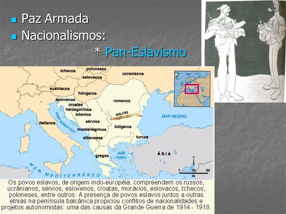 Paz Armada Paz Armada Nacionalismos: Nacionalismos: * Pan-Eslavismo * Pan-Eslavismo