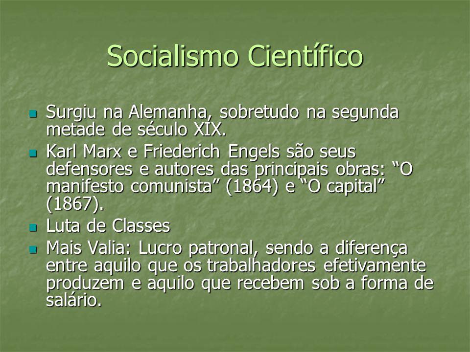 Socialismo Científico Surgiu na Alemanha, sobretudo na segunda metade de século XIX. Surgiu na Alemanha, sobretudo na segunda metade de século XIX. Ka
