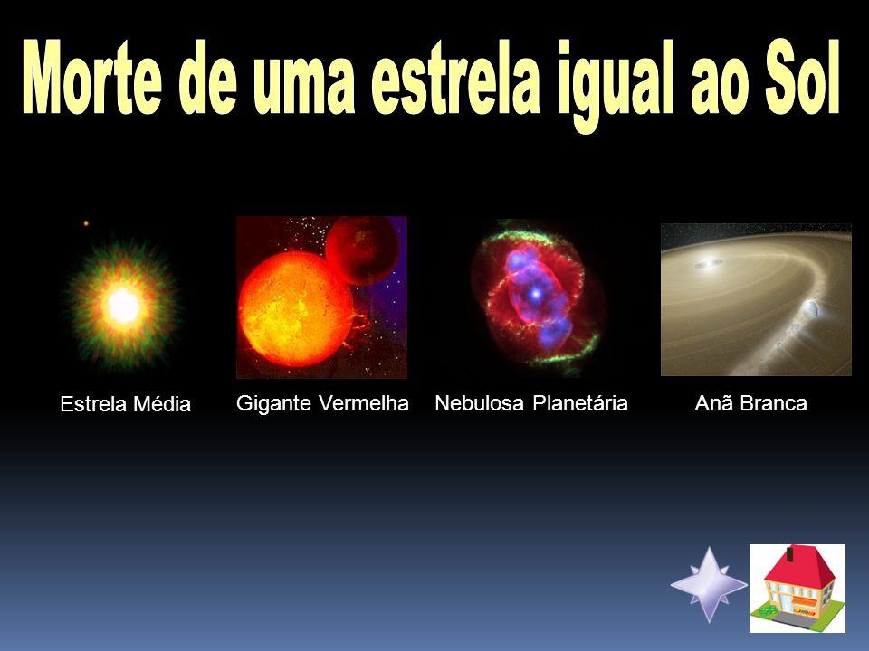 Estrela Média Gigante VermelhaNebulosa PlanetáriaAnã Branca