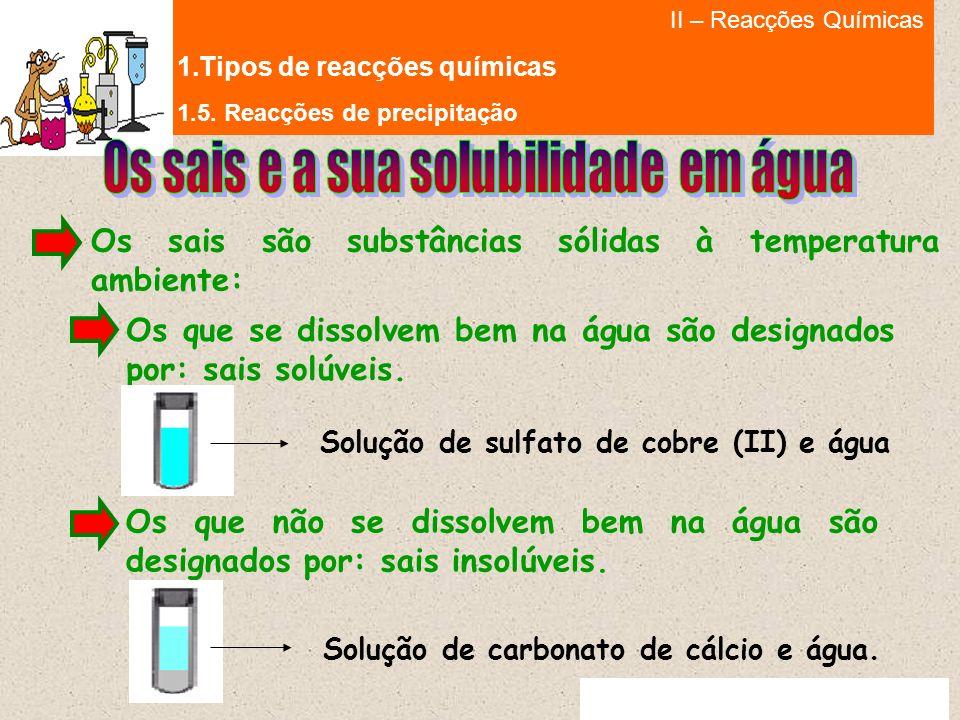 II – Reacções Químicas 1.Tipos de reacções químicas Ana Rita Bettencourt Prestes © 2009 1.5.