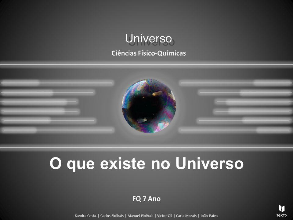 Sandra Costa | Carlos Fiolhais | Manuel Fiolhais | Victor Gil | Carla Morais | João Paiva O que existe no Universo