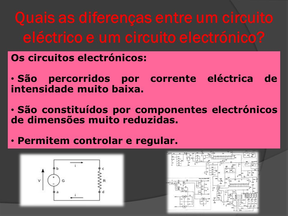 Quais os componentes mais comuns num circuito electrónico.