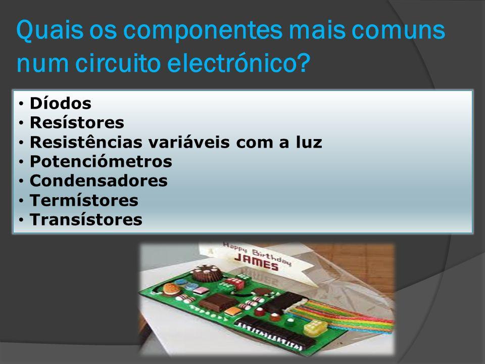 Díodos Os díodos são componentes electrónicos que deixam passar a corrente eléctrica num só sentido.
