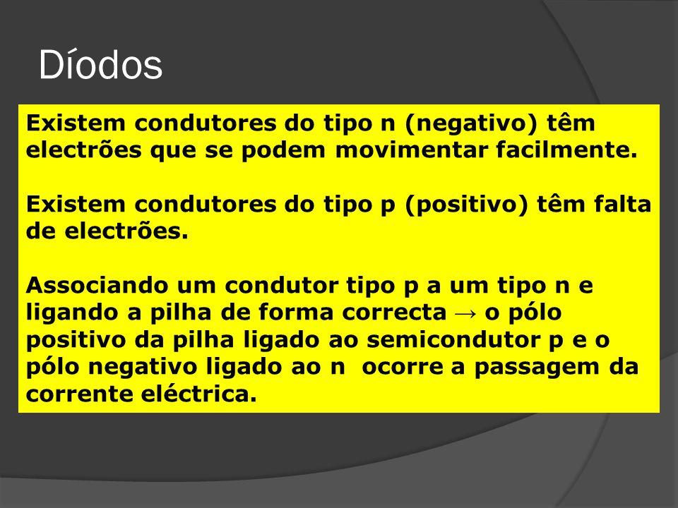 Díodos Há díodos convencionais Há díodos especiais- os LED ou Díodo Emissor de Luz.
