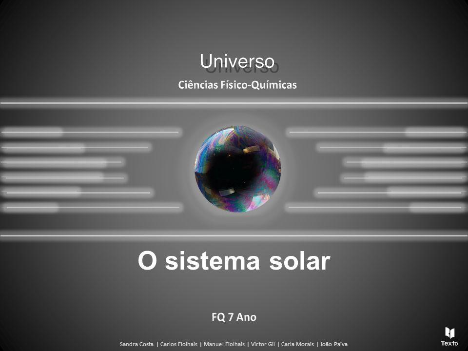 Sandra Costa   Carlos Fiolhais   Manuel Fiolhais   Victor Gil   Carla Morais   João Paiva O sistema solar