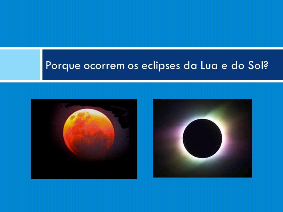 Porque ocorrem os eclipses da Lua e do Sol?