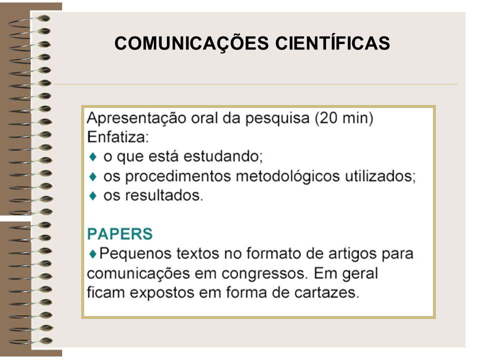COMUNICAÇÕES CIENTÍFICAS