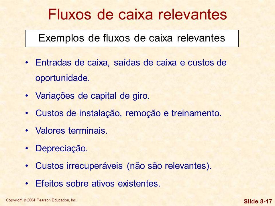Copyright © 2004 Pearson Education, Inc. Slide 8-16 Fluxos de caixa relevantes A análise internacional de orçamento de capital difere da análise puram