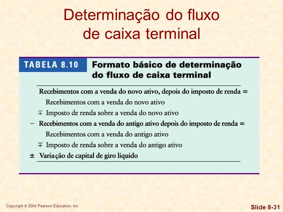Copyright © 2004 Pearson Education, Inc. Slide 8-30 Determinação dos fluxos de caixa operacionais