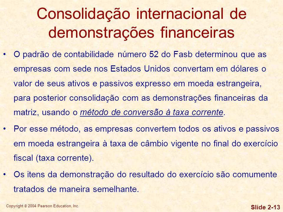 Copyright © 2004 Pearson Education, Inc. Slide 2-12 Demonstrações financeiras