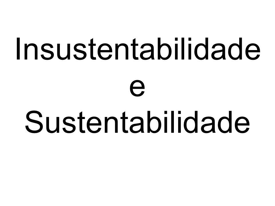 Insustentabilidade e Sustentabilidade