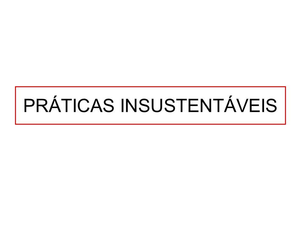 PRÁTICAS INSUSTENTÁVEIS