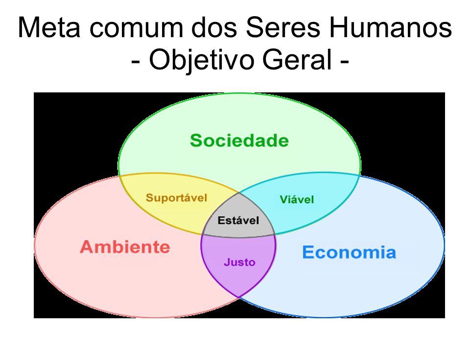 Meta comum dos Seres Humanos - Objetivo Geral - Especifique a meta pretendida