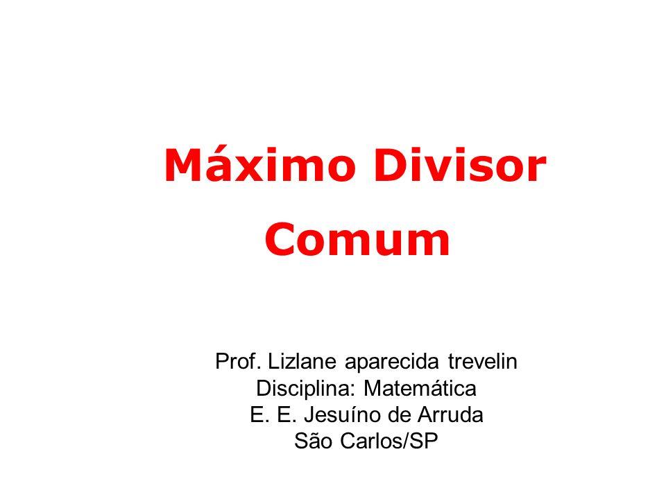 Prof.Lizlane aparecida trevelin Disciplina: Matemática E.