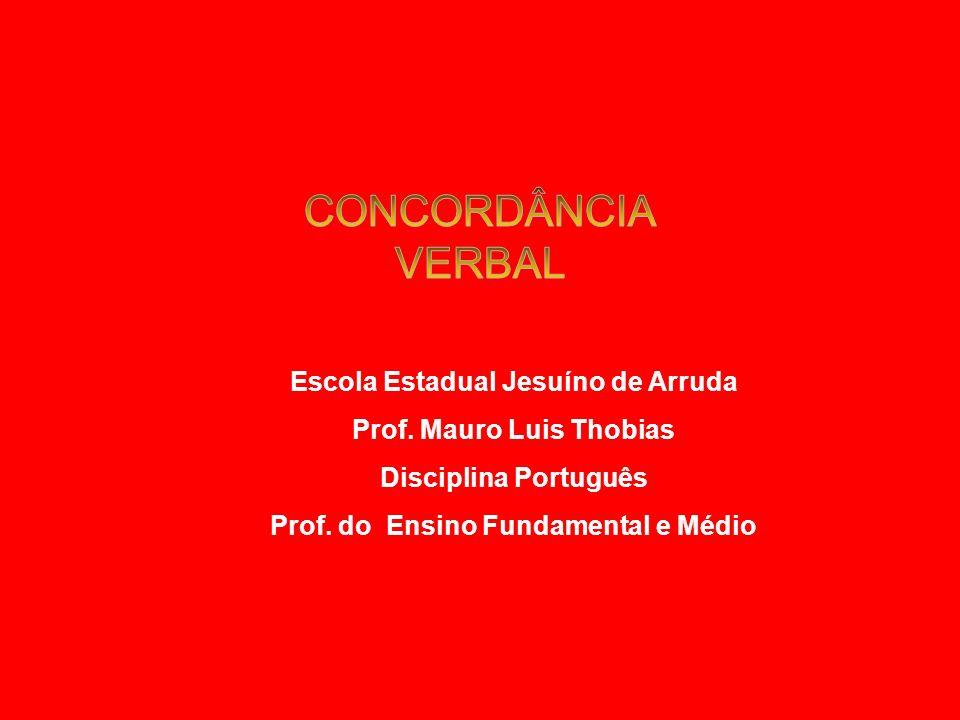 Escola Estadual Jesuíno de Arruda Prof.Mauro Luis Thobias Disciplina Português Prof.