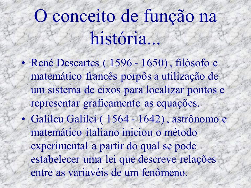 O conceito de função na história...