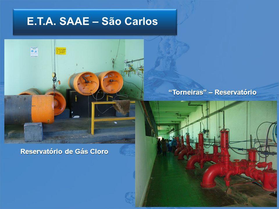 E.T.A. SAAE – São Carlos Reservatório de Gás Cloro Torneiras – Reservatório