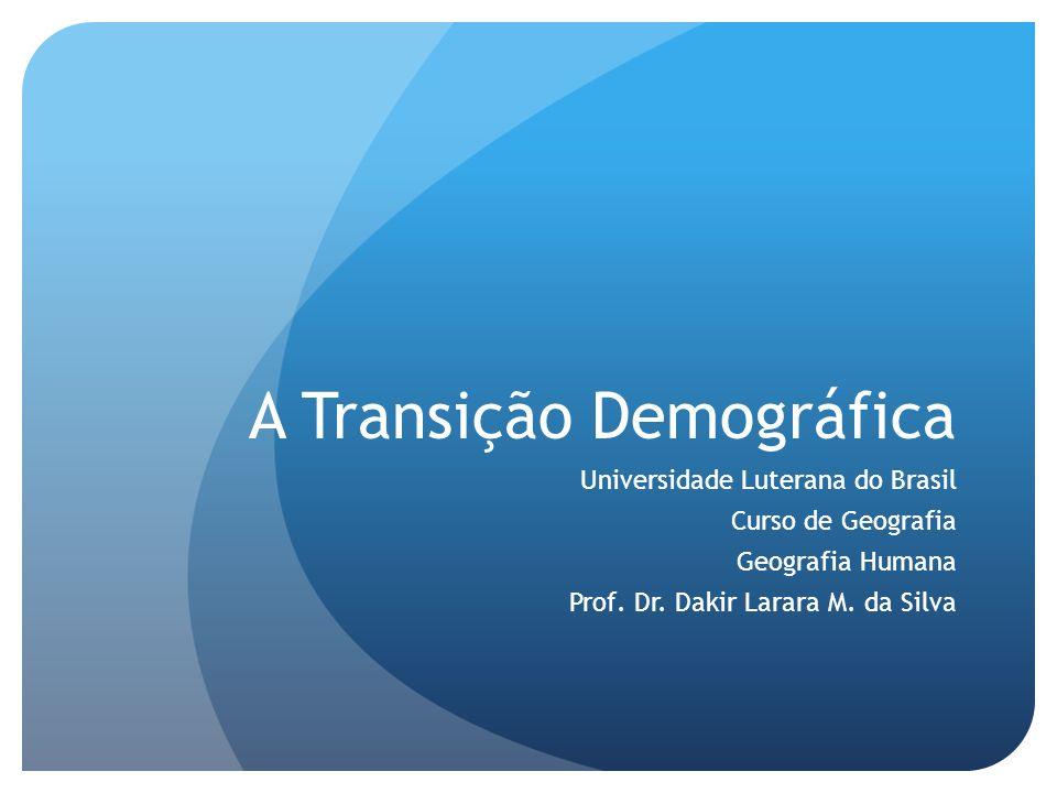 A Transição Demográfica A transição demográfica é um modelo de leitura das grandes transformações demográficas que ocorreram ou que estão a ocorrendo no mundo contemporânea.