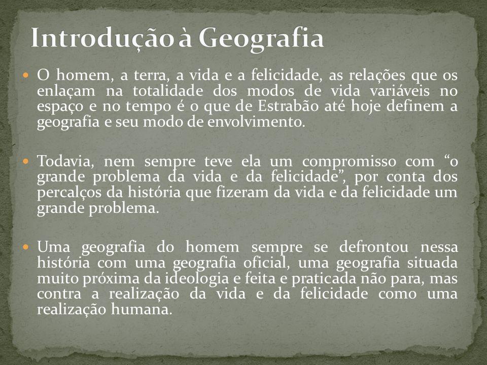 A geografia desenvolveu-se num primeiro momento na Grécia antiga; no contexto histórico, primeiramente foi chamada de história natural ou filosofia natural.