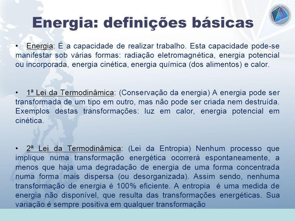 Universidade Federal do Esp Santo - UFES Energia: definições básicas Energia: É a capacidade de realizar trabalho. Esta capacidade pode-se manifestar