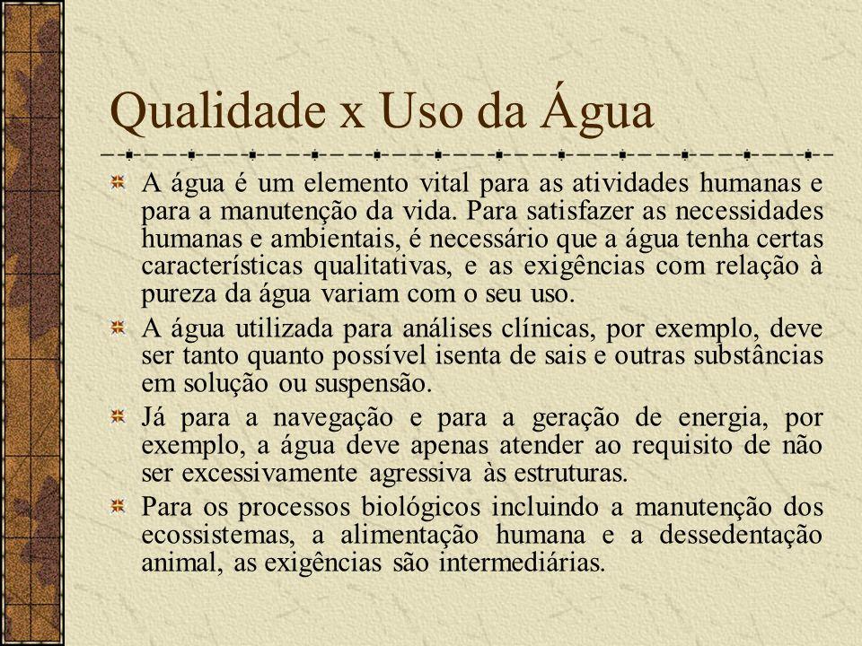 Massa, concentração e fluxo Aspectos fundamentais da qualidade da água são, normalmente, apresentados em termos de concentração de substâncias na água.