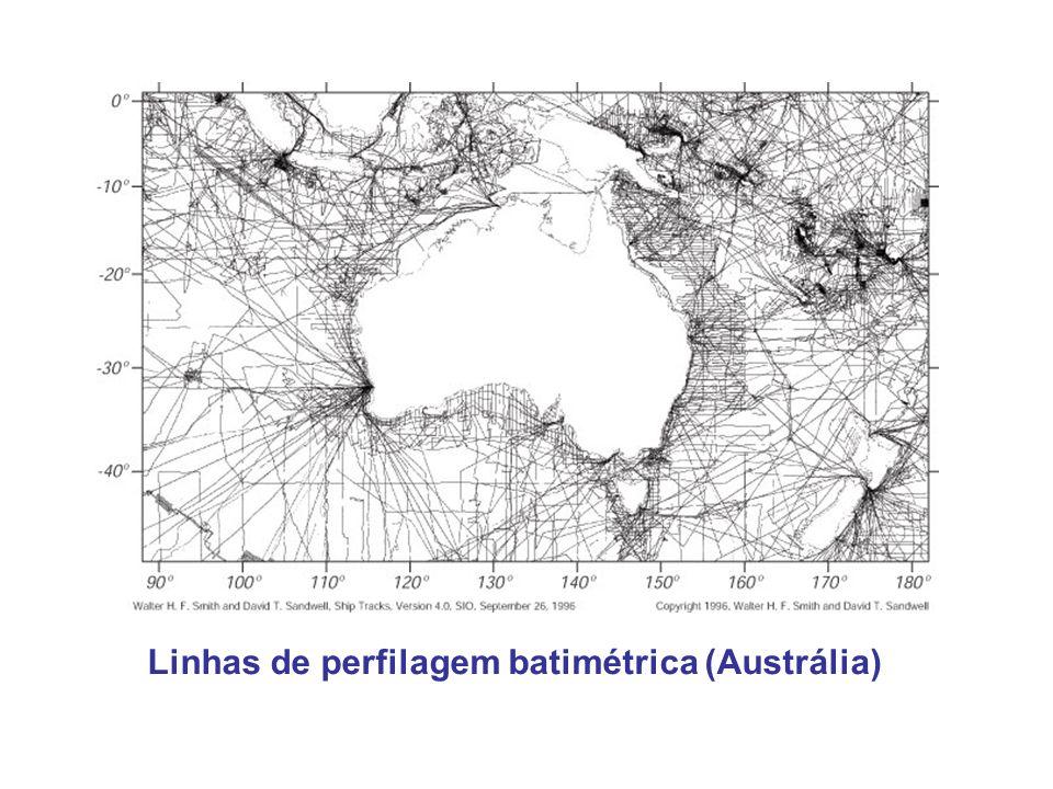 Linhas de perfilagem batimétrica (Austrália)